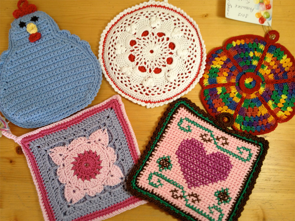 potholder swap 2012-potholders received