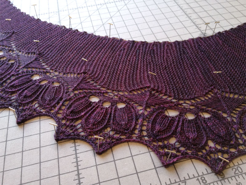 Arcadia scarf/shawl blocking